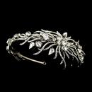 Elegance by Carbonneau HP-1782-AS-Clear Antique Silver Clear Multi Cut Rhinestone Spiral Side Accented Bridal Headpiece 1782