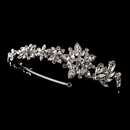 Elegance by Carbonneau HP-17966-AS-Clear Vintage Bridal Headpiece with Side Accent HP 17966 Antique Silver