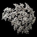 Elegance by Carbonneau HP-19255-AS-Clear Vintage Couture Leaves Side Accented Crystal Bridal Faceframer Headband Headpiece 19255