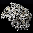 Elegance by Carbonneau HP-19255-LG-CL Light Gold Clear Marquise Rhinestone Wired Deco Side Accented Headband