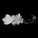 Elegance by Carbonneau HP-2033 Flower Crystal Bridal Headpiece 2033 (White or Ivory)
