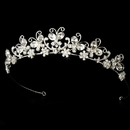 Elegance by Carbonneau HP-2165-S-Clear Crystal Butterfly Bridal Tiara HP 2165