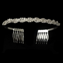 Elegance by Carbonneau HP-218comb-Silver-Clear Headpiece 218 Comb Silver Clear