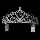 Elegance by Carbonneau HP-242-16-SCL Sparkling Vintage Rhinestone Sweet 16 Tiara in Silver 242