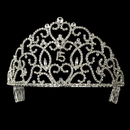 Elegance by Carbonneau HP-251-Silver-Clear-15 Royal Sweet 15 Quincea?era Silver Headpiece Covered in Clear & Rhinestones 251