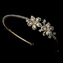 Elegance by Carbonneau HP-2853-G Gold Headband Style Bridal Tiara HP 2853