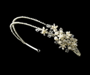 Elegance by Carbonneau HP-3040-S-Ivory Silver and Pearl Side Accented Headband HP 3040