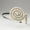 Elegance by Carbonneau HP-4026-B-Ivory Ivory Clear w/ Black Headband Headpiece 4026