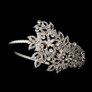 Elegance by Carbonneau HP-408-Antique-Silver Antique Silver Headpiece 408