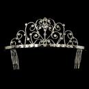 Elegance by Carbonneau HP-42142-S-Clear Elegant Silver Rhinestone Tiara HP 42142