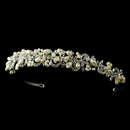 Elegance by Carbonneau HP-5066-silverivory Headpiece 5066 Silver Ivory