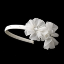 Elegance by Carbonneau HP-611 Beautiful Fabric Side Accented Flower girl or Bridal Headband HP 611