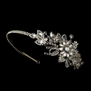 Elegance by Carbonneau HP-613-AS-Clear Vintage Side Bridal Headpiece Headband HP 613