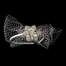Elegance by Carbonneau HP-614 Beautiful Side Accented Bridal Headband with Bird Cage Veil HP 614