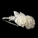 Elegance by Carbonneau HP-616 Rhinestone & Flower Accented Side Bridal Headband HP 616