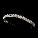 Elegance by Carbonneau HP-623-Silver-Clear Channel Inspired Rhinestone Bridal Headband HP 623