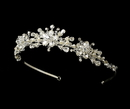 Elegance by Carbonneau HP-7014-S-FW Crystal and Freshwater Pearl Tiara HP 7014