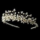 Elegance by Carbonneau HP-727-G Lt Gold Plated Pearl and Swarovski Bridal Tiara HP 727