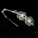 Elegance by Carbonneau HP-7800-S-Clear Floral Swarovski Bridal Headband HP 7800