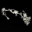 Elegance by Carbonneau HP-7802-S-Clear-AB Silver Plated AB Bridal Headband HP 7802
