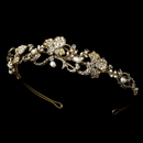 Elegance by Carbonneau HP-7803-G-Ivory Artistic Pearl Wedding Bridal Headband HP 7803