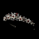Elegance by Carbonneau HP-8003-Red Silver Red Headband Headpiece 8003