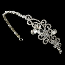Elegance by Carbonneau HP-8101-S-Clear Headpiece 8101 Silver Clear