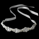 Elegance by Carbonneau HP-8207-White Pearl Ribbon Style Bridal Headband HP 8207 White or Ivory