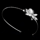 Elegance by Carbonneau HP-8248-S-Clear Silver Plated Swarovski Headband HP 8248