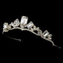 Elegance by Carbonneau HP-8277-Gold Gold Princess Rhinestone Majesty Bridal Tiara HP 8277