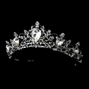 Elegance by Carbonneau HP-8329-AS-Clear Antique Rhodium Silver Tiara Clear Headpiece 8329