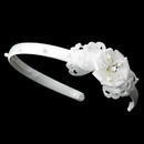 Elegance by Carbonneau HP-8392 Ivory Bridal Headband with Flower Side Accent HP 8392