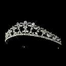 Elegance by Carbonneau HP-928-S-Clear Silver Clear CZ Crystal Bridal Tiara Headpiece 928