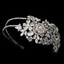 Elegance by Carbonneau HP-932-AS-Clear Antique Silver Clear Headpiece 932