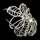 Elegance by Carbonneau HP-9622-S-DW Silver Diamond White Pearl, Rhinestone & Bugle Bead Side Accented Headband Headpiece 9622
