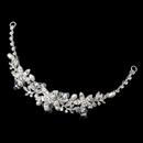 Elegance by Carbonneau HP-9734-S-FW Silver Freshwater Pearl, Swarovski Crystal Bead & Rhinestone Headpiece 9734