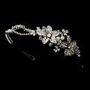 Elegance by Carbonneau HP-9797-AS-Ivory Rhodium Ivory Clear Headpiece 9797