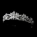 Elegance by Carbonneau HP-9833-S-Clear Elegant Silver Crystal Swirl Rhinestone Tiara HP 9833