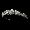 Elegance by Carbonneau HP-9840-S-Clear Fabulous Silver Clear Crystal Tiara Headpiece 9840
