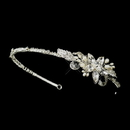 Elegance by Carbonneau HP-9990-S-Ivory Silver Ivory Pearl & Clear Rhinestone Side Accented Headband Headpiece 9990