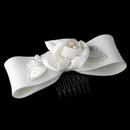Elegance by Carbonneau HPC-403-W White Pearl Child's Bow HPC 403