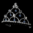 Elegance by Carbonneau HPC-500-LtBlue Lt Blue & Crystal Flowergirl Tiara HPC 500