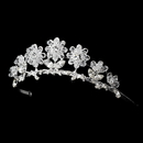 Elegance by Carbonneau HPC-605 Child's Silver Clear Tiara Headpiece 605