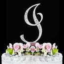 Elegance by Carbonneau I-Sparkle-Silver Sparkle ~ Swarovski Crystal Wedding Cake Topper ~ Silver Letter I