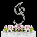 Elegance by Carbonneau I-Vintage Vintage ~ Swarovski Crystal Wedding Cake Topper ~ Letter I