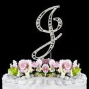 Elegance by Carbonneau J-Vintage Vintage ~ Swarovski Crystal Wedding Cake Topper ~ Letter J