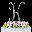 Elegance by Carbonneau K-Completely-Covered Completely Covered ~ Swarovski Crystal Wedding Cake Topper ~ Letter K