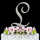 Elegance by Carbonneau L-Completely-Covered Completely Covered ~ Swarovski Crystal Wedding Cake Topper ~ Letter L
