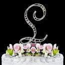 Elegance by Carbonneau L-Vintage Vintage ~ Swarovski Crystal Wedding Cake Topper ~ Letter L