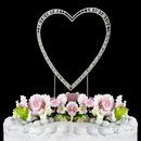 Elegance by Carbonneau Large-Vintage-Single-Heart-Silver Vintage ~ Swarovski Crystal Wedding Cake Topper ~ Single Large Silver Heart